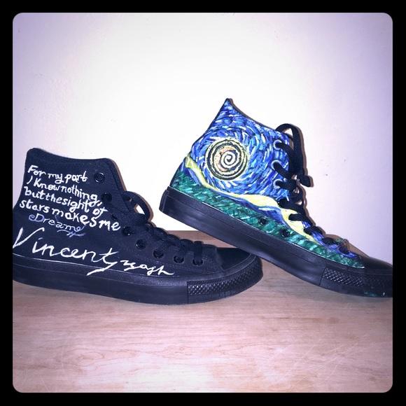01217627d62dd 💥SALE💥 Converse Van Gogh Starry Night